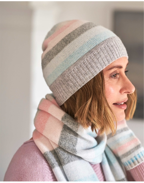 Cashmere Striped Hat