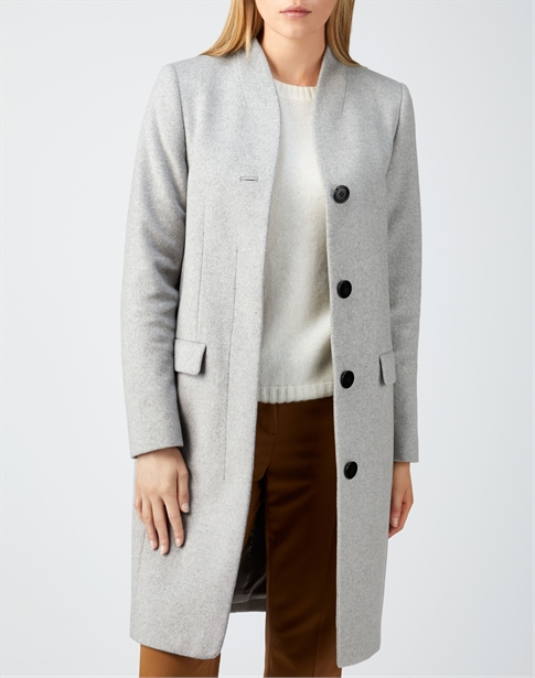 High Neck Tailored Coat