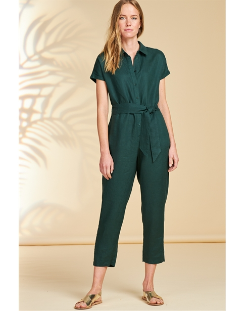 Linen Collared Jumpsuit