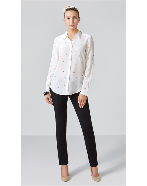 Relaxed Washed Silk Blouse