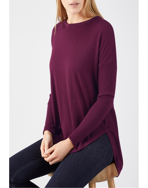Ultra Soft Merino Split Back Sweater
