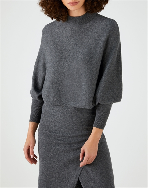 Batwing Cropped Sweater