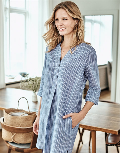 Linen Pocketed Dress