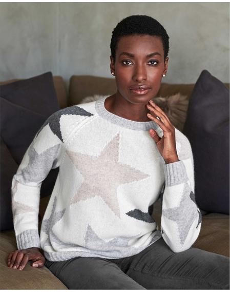Cashmere Lofty Grey Star Sweatshirt