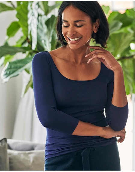 Soft Jersey Square Neck Top