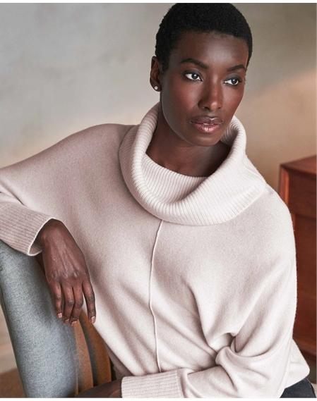 Wool Cashmere Dolman Sweater