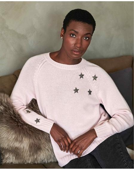 Cashmere Lofty Beaded Star Sweatshirt