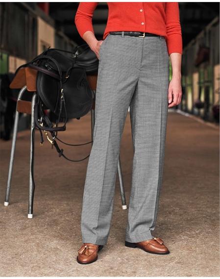 High Waist Wool Blend Wide Leg Trousers