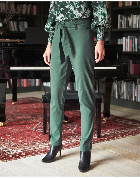 Belted Tencel Trousers