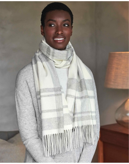 Cashmere Check Blanket Scarf