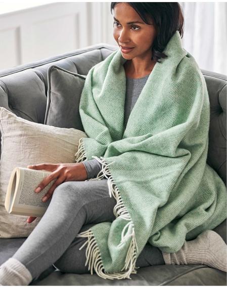 Herringbone Lambswool Blanket