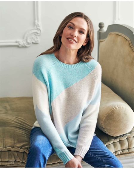 Cashmere Lofty Abstract Sweater