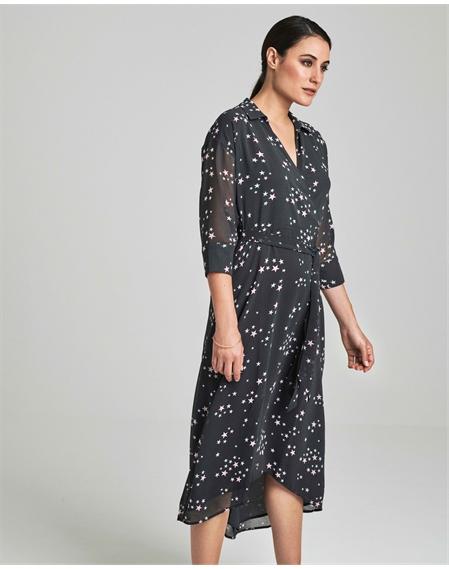 Printed Collared Dress