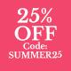 25% off Summer Dressing Offer